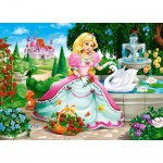 Puzzle  Castorland-066056 Princess with Swan