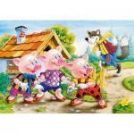 Puzzle  Castorland-08521-B05 The 3 little pigs
