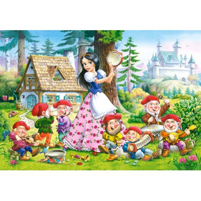 Puzzle Castorland-08521-B08 Blanche Neige and the 7 Dwarfs
