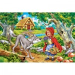 Castorland-08521-B2-3 Mini Puzzle - Little Red Riding Hood