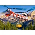 Castorland-08521-LO1 Mini Puzzle - Helicopter