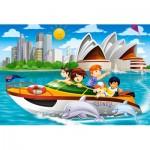 Castorland-08521-P2 Mini Puzzle - Sydney