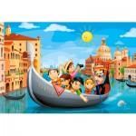 Castorland-08521-P4 Mini Puzzle - Venice