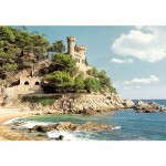Castorland-100774 Jigsaw Puzzle - 1000 Pieces - Lloret de Mar, Spanish Coast