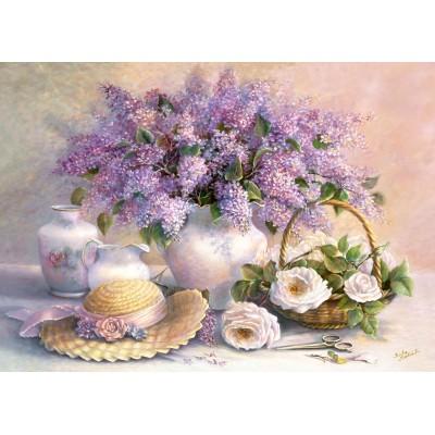 Castorland-102006 Jigsaw Puzzle - 1000 Pieces - Trisha Hardwick : Flower Day