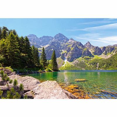 Castorland-102235 Jigsaw Puzzle - 1000 Pieces - Morskie Oko Tatras Lake, Poland