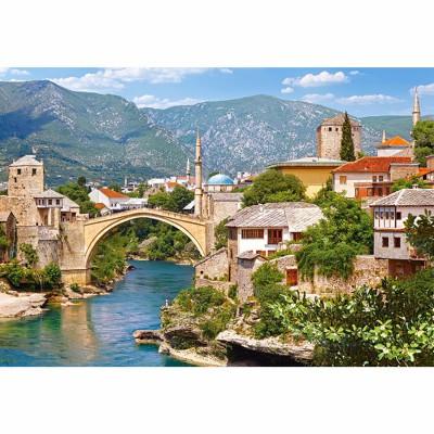 Castorland-102495 Jigsaw Puzzle - 1000 Pieces - Mostar, Bosnia-Herzegovina