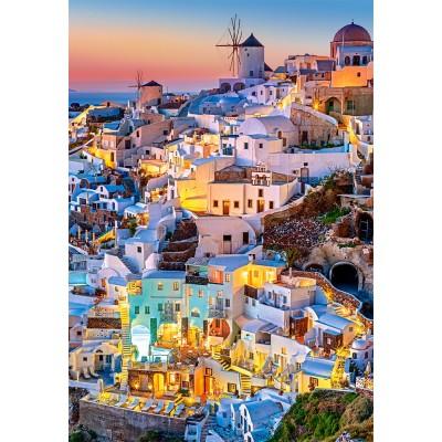 Puzzle Castorland-103522 Santorini Lights