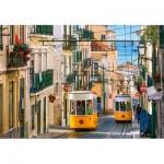 Puzzle  Castorland-104260 Lisbon Trams, Portugal