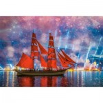 Puzzle  Castorland-104482 Red Frigate