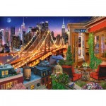 Puzzle  Castorland-104598 Brooklyn Bridge Lights