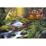 Puzzle  Castorland-104635 Creek Side Comfort