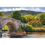 Puzzle  Castorland-104673 Village Corne in Wales