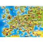 Puzzle  Castorland-111060 Map of Europe