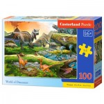 Puzzle  Castorland-111084 World of Dinosaurs