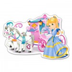 Puzzle  Castorland-120017 XXL Pieces - Princess Carriage