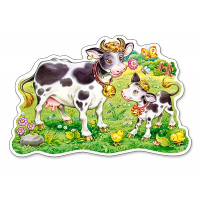 Puzzle Castorland-120062 XXL Pieces - Cows on a Meadow