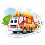 Puzzle  Castorland-120109 XXL Pieces - Fire Engine