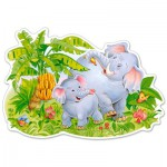 Puzzle  Castorland-120116 XXL Pieces - Playing Elephants