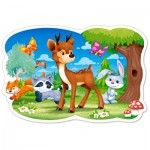 Puzzle  Castorland-120154 XXL Pieces - Forest Animals