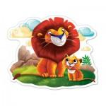 Puzzle  Castorland-120161 XXL Pieces - Lions