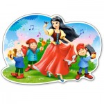 Puzzle  Castorland-120192 XXL Pieces - Snow White and the Seven Dwarfs