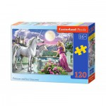 Puzzle  Castorland-13098 Princess and her Unicorns