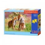Puzzle  Castorland-13241 Little Fox and His Mum