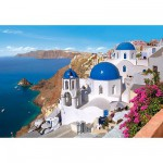Castorland-150663 Jigsaw Puzzle - 1500 Pieces - Santorin, Greece