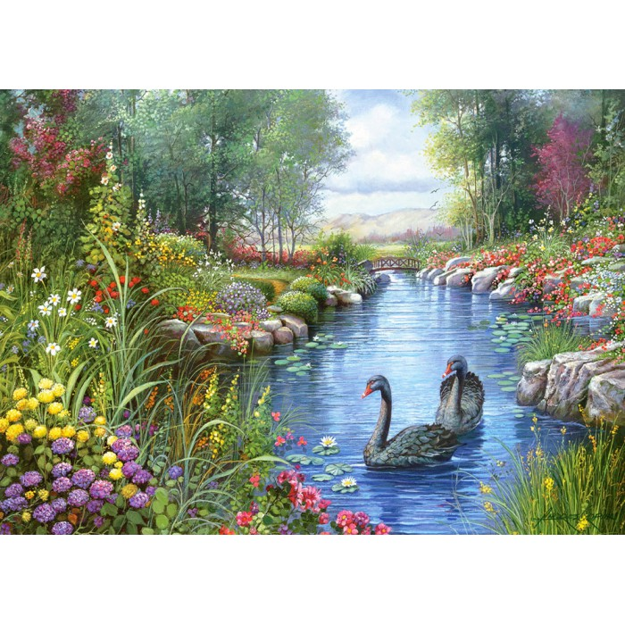 Jigsaw Puzzle - 1500 Pieces - Andres Orpinas : Black Swans
