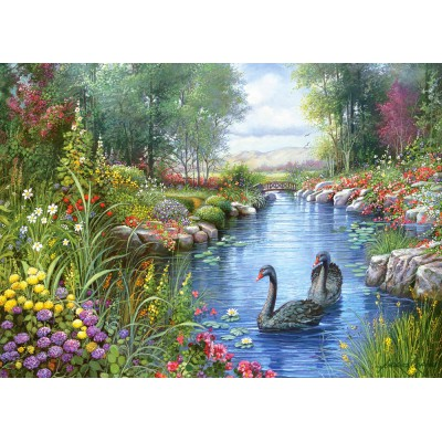 Castorland-151042 Jigsaw Puzzle - 1500 Pieces - Andres Orpinas : Black Swans