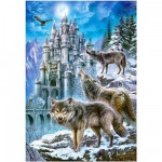 Castorland-151141 Jigsaw Puzzle - 1500 Pieces : Wolves in Front of the Castle