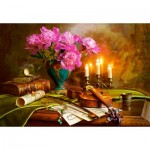 Puzzle  Castorland-151530 Still Life with Violin and Flowers