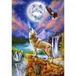 Puzzle  Castorland-151806 Wolf's Night