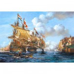 Castorland-200245 Jigsaw Puzzle - 2000 Pieces - Battle of Portobello, 1739