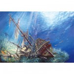 Castorland-200252 Jigsaw Puzzle - 2000 Pieces - Underwater Shipwreck