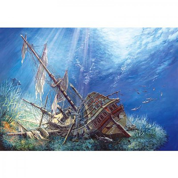 Jigsaw Puzzle - 2000 Pieces - Underwater Shipwreck