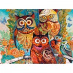 Puzzle  Castorland-200535 David Galchutt: Owls