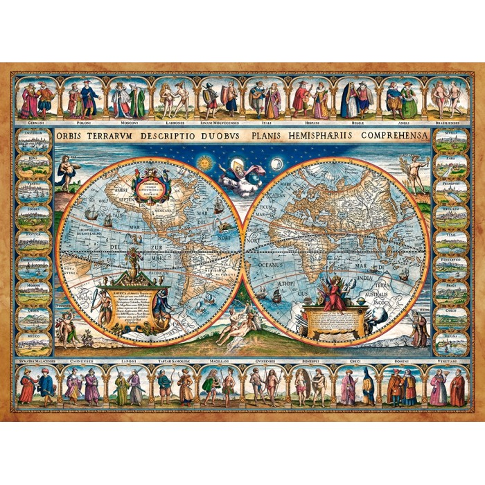 Map of The World, 1639