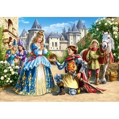 Castorland-21017 2 Puzzles - Charming princesses