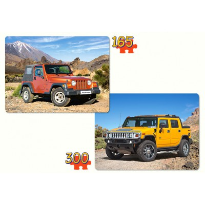 Castorland-21086 2 puzzles - 4 x 4 vehicles