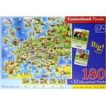 Puzzle  Castorland-227 Europe Map