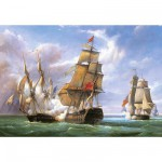 Castorland-300037 Jigsaw Puzzle - 3000 Pieces - Vessels at the Trafalgar Battle
