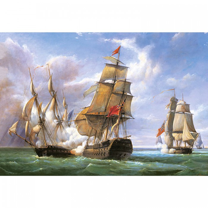 Jigsaw Puzzle - 3000 Pieces - Vessels at the Trafalgar Battle