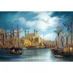Castorland-300167 Jigsaw Puzzle - 3000 Pieces - Sunrise on the Harbour