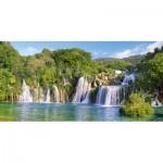 Puzzle  Castorland-400133 Krka Waterfalls, Croatia