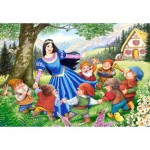 Castorland-40049 Maxi puzzle: Snow White and the seven dwarves
