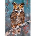 Puzzle  Castorland-52387 Great Horned Owl
