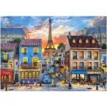 Puzzle  Castorland-52684 Dominic Davison: Streets of Paris