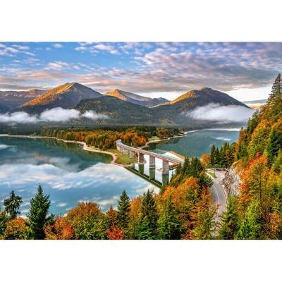 Puzzle Castorland-53353 Sylvenstein Lake, Allemagne